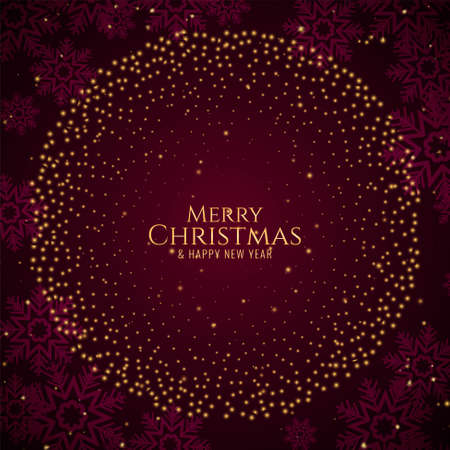 Merry Christmas stylish modern background vector
