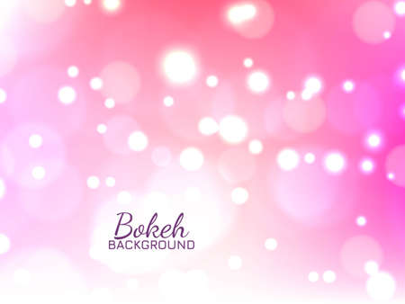 Abstract bokeh bright pink background vector