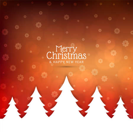 Abstract Merry Christmas greeting background vector