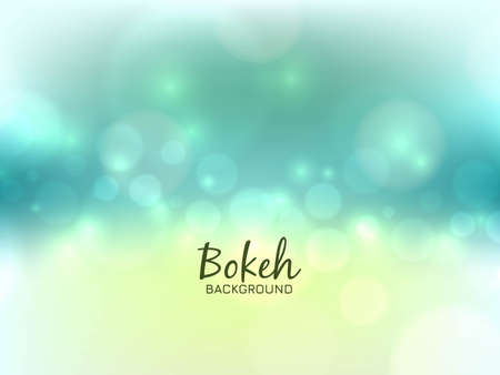 Abstract bright bokeh light background vector