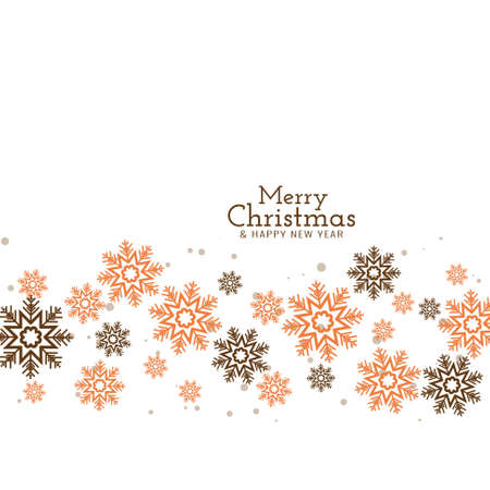 Merry Christmas decorative festive background vector