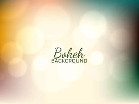 Beautiful bokeh colorful soft background vector 일러스트