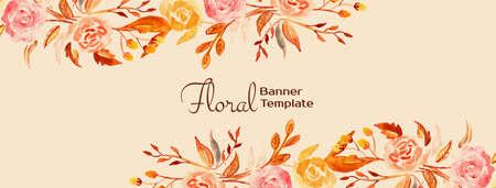 Elegant beautiful floral banner design vector 向量圖像