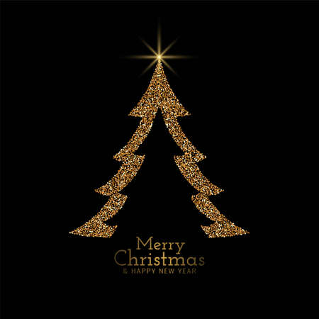 Stylish Merry Christmas decorative background vector