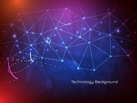Modern cyber technology modern background vector