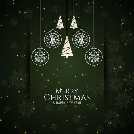 Stylish Merry Christmas greeting background vector 일러스트