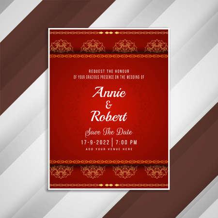 Abstract wedding invitation artistic card design