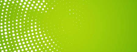 Abstract modern halftone design green banner vector