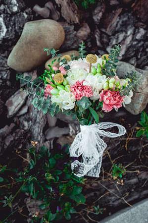 wedding bouquet made of peony