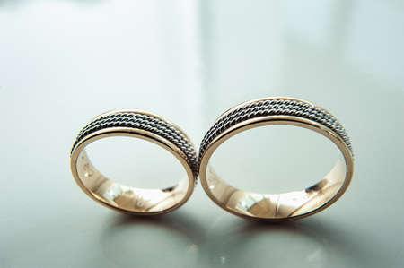 unusual luxery wedding rings. macro