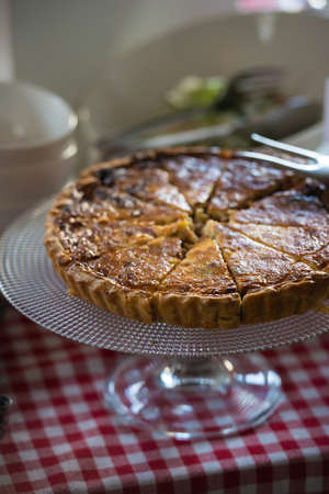 crunchy freshly baked layered meat pie
