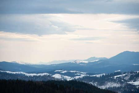 Carpathian mountain valley. Majestic landscape Ukraine Фото со стока