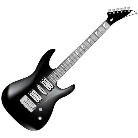 black electric guitar