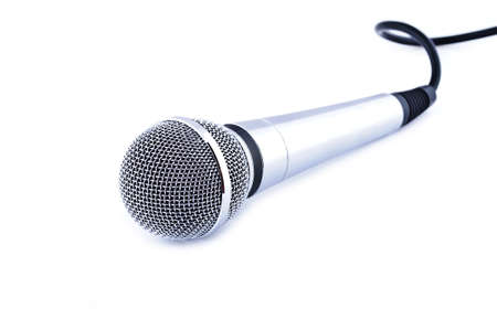 Karaoke microphone isolated on white background photo
