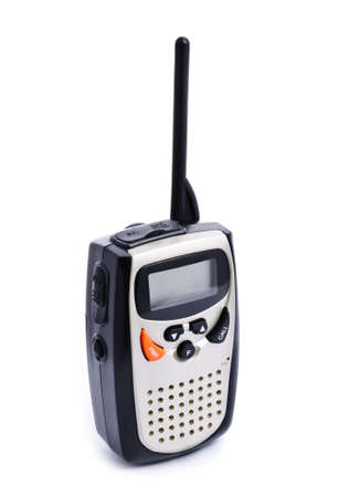 walkie: Portable walkie talkie radio on white background