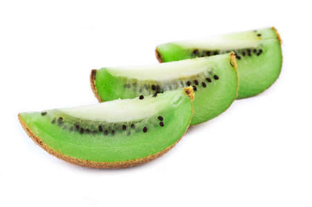 Sliced kiwi isolated on white background Stock Photo - 8879364