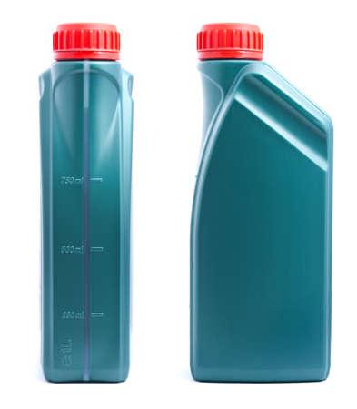 petrol can: Dos de aceite puede aislado sobre fondo blanco