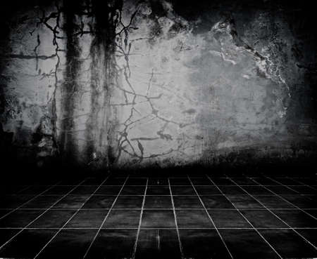 grime: Dark Grunge Room. Digital background for studio photographers.