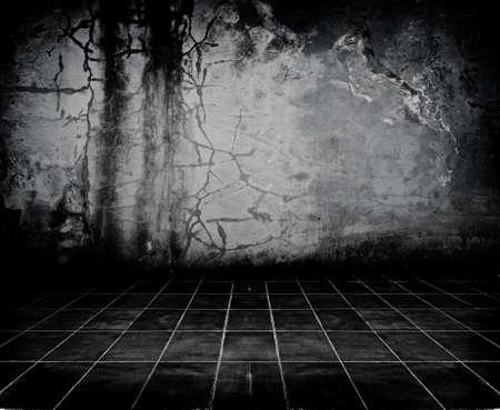 Dark Grunge Room. Digital background for studio photographers.