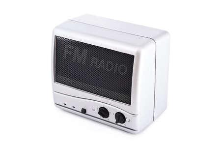 vintage fm radio isolated on white background photo
