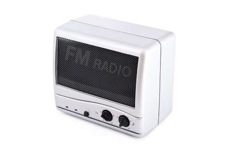 fm: vintage fm radio isolated on white background