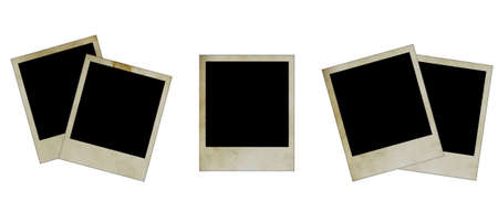digital frame: blank grunge photo frame ready to be populated with any image.