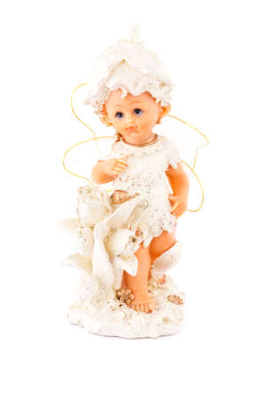 Figurine little white angel, front side photo