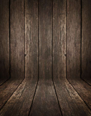 vintage wooden interior with artistic shadows added Stock Photo