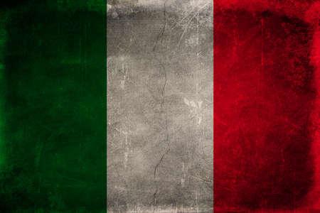 italien flagge: Grunge Flagge von Italien