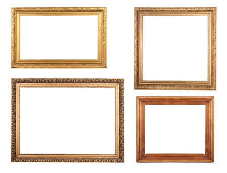 Four antique picture frames. High resolution. Stock Photo - 11438456