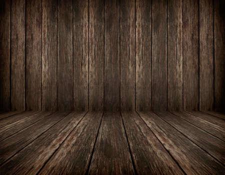dark vintage brown wooden planks interior with artistic shadows added
