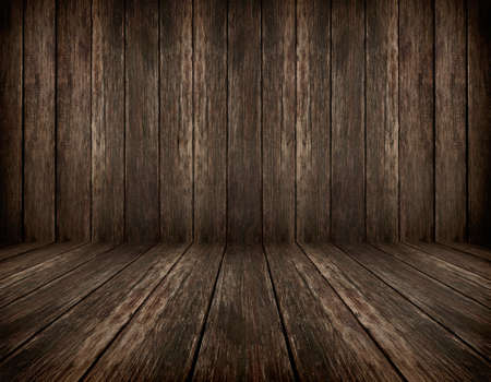 dark vintage brown wooden planks interior with artistic shadows added