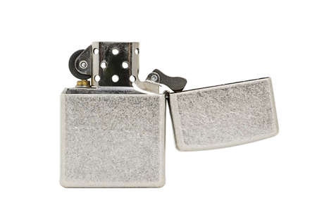 gas lighter: Metal lighter isolated on white background