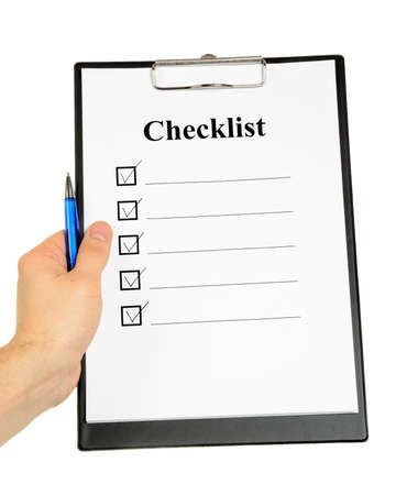 Checklist and Clipboard isolated on white background photo