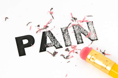 Removing Pain concept with eraser and pencil. Stock Photo - 14163259