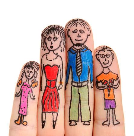 Fingers Family isolated on white background Stock Photo - 15826013