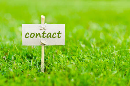 Contact us concept with word on nature still life Stock Photo - 16263129