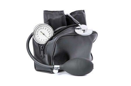 The medical device for blood pressure measurement on white background  Stock Photo - 16953098