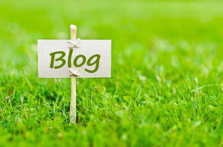 Blog concept avec le mot sur la nature encore la vie