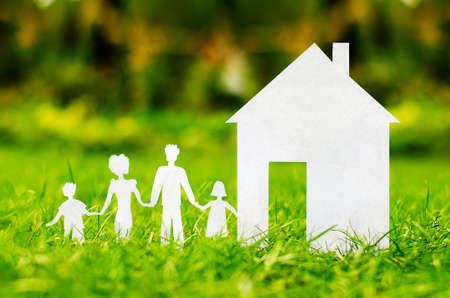 home loans: concetto di immagine di rendere la vostra casa Archivio Fotografico
