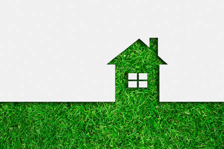 wealth concept: Simple green eco house icon