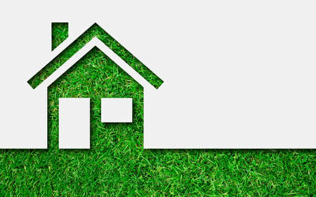 property: Simple green eco house icon
