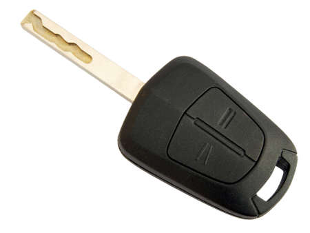 ateşleme: Car key with remote control isolated over white