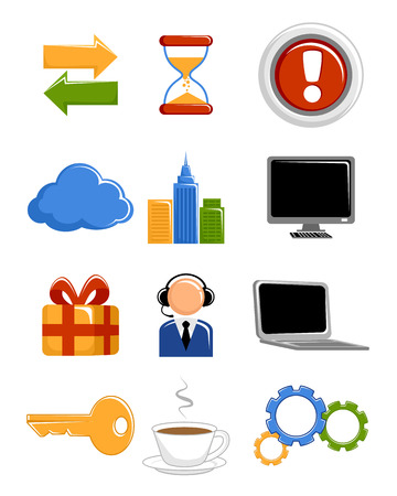 ilustration and painting: Vector illustration of a web icons set