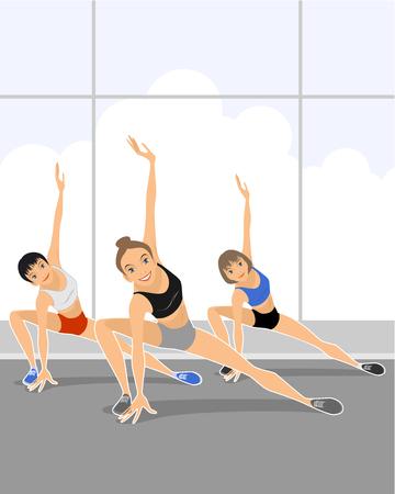 Vector illustration of a team fitness training Imagens - 39466855