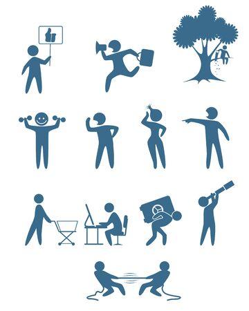 nag: Vector illustration of a people scenes set Illustration
