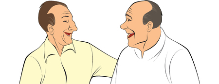 pals: Vector illustration of a two old pals