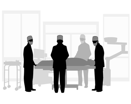 Vector illustration of a surgical operation Ilustrace