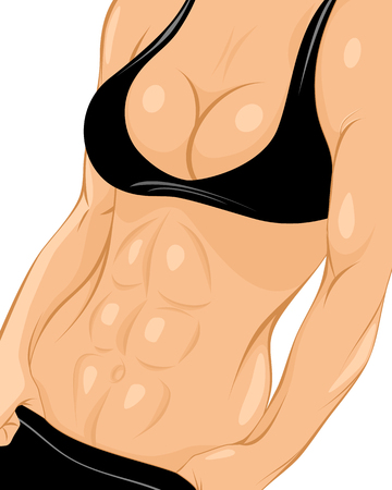 perfect body: Vector illustration of a girls with perfect body Illustration