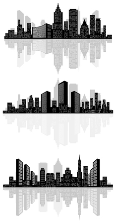 built tower: illustration of a abstract city silhouette